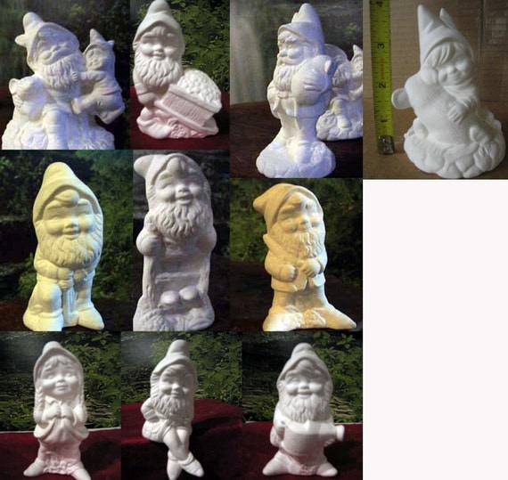 Ceramic Gnomes To Paint: Choice One Alberta Garden Gnome Yard Garden Statue Elf