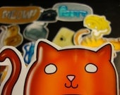 12 Jelly Kitty Stickers