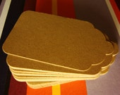 25 Kraft Paper Tags - Labels - Gift Tag - Scrapbooking - Can hole punch