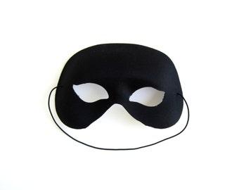 Unisex Mask Halloween Costume Black for Men and Women Phantom