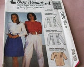 1991 Uncut Busy Woman' s For McCall's  Pattern  5260  Misses Blouse   Size  14