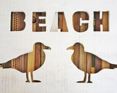 Reclaimed Wood Art - Beach - Nautical - Seagull