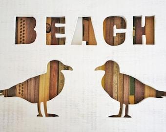 Reclaimed Wood Art - Beach - Nautical - Seagull
