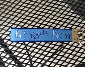 Kansas City Royals Inspired Baseball Keychain Wristlet