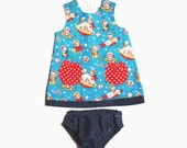 Rocket Rascals baby girls dress set
