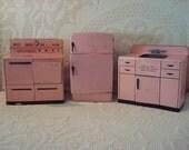Mid Century Pink Wolverine Child's Kitchen Set