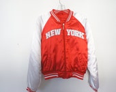 Red Varsity Letterman Jacket New York size Small