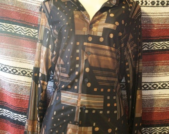 vintage disco kennington button up