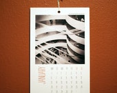 2014 NYC black and white mobile photography, 100% recycled paper, Wall Calendar  - - photo a month