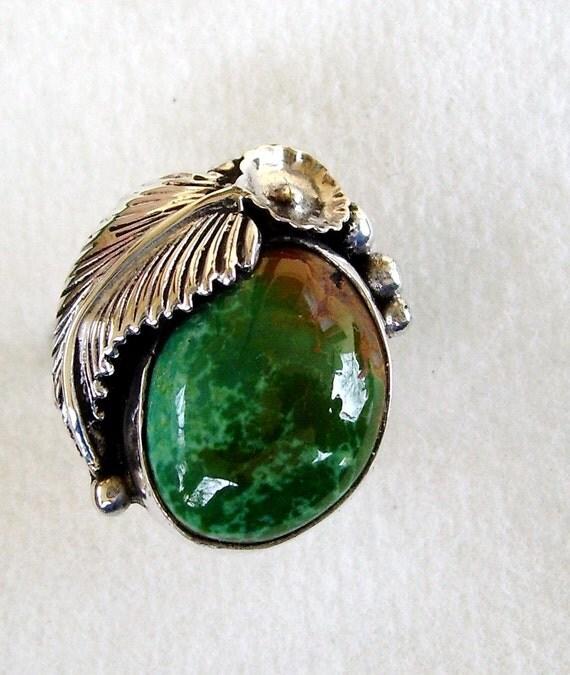Dapple Green Royston Turquoise Ring