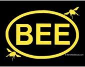 Beekeeper Euro Car Sticker Bee Sticker Decal