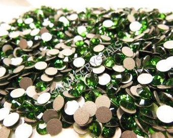 50 pcs Swarovski Crystal Flatbacks Fern Green color 20ss (4.6 - 4.8mm) SS20 2028 Xilion Rose