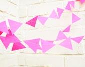The Geo Garland, Hot Pink Wedding Garland, Hot Pink, Wedding Decor, Wedding Garland