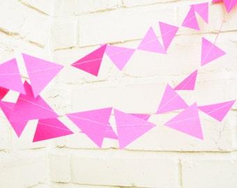 The Geo Garland, Hot Pink Wedding Garland, Hot Pink, Wedding Decor, Wedding Garland