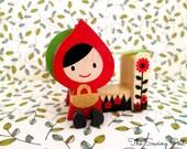 Wood Tape Dispenser: Little Red Riding Hood