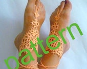 Tatting barefoot sandals pattern . PDF pattern. Tatting pattern.