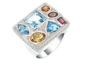 Big Size Color Gems Stone Men Ring, Size of the ring is 26 mm x 22 mm, Gorgeous Ring (MN 242 )