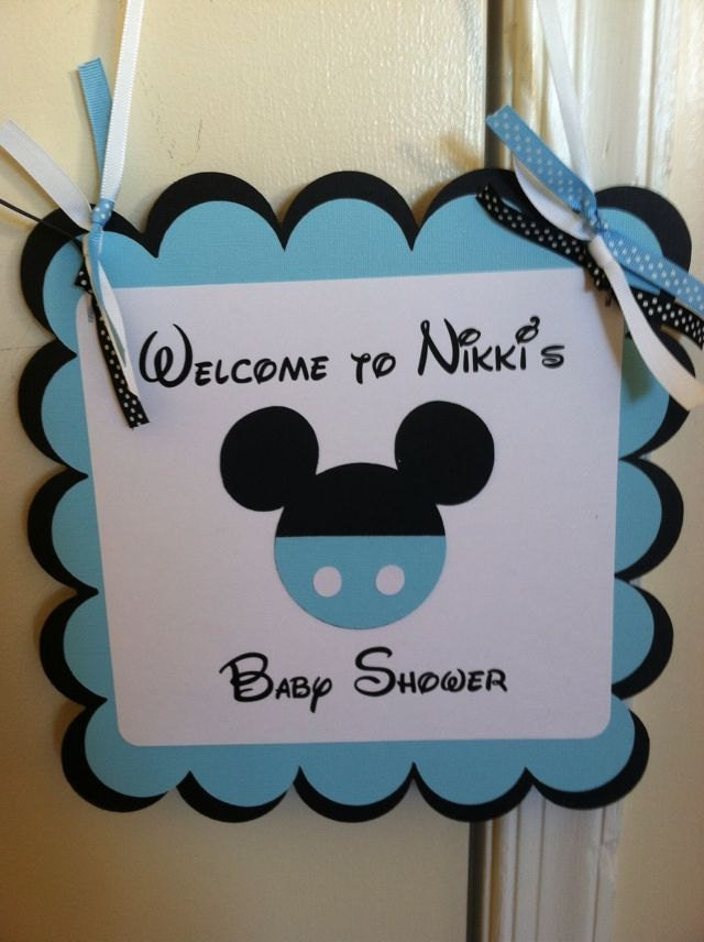 mickey mouse baby shower sign mickey party sign by niudesigns