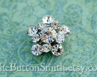 Rhinestone Buttons -Zoe-  (21mm) RS-026 - 5 piece set