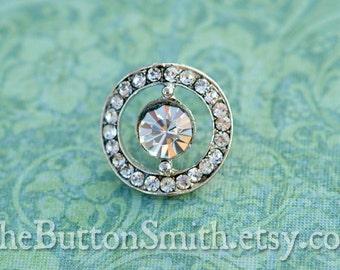 Rhinestone Buttons -Anna- (19mm) RS-021 - 5 piece set