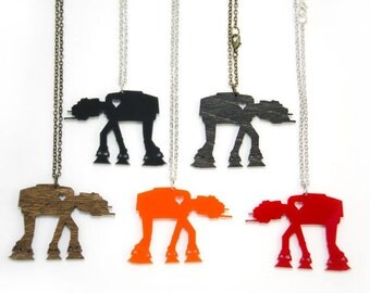 AT-AT Necklace - Handmade - Laser Cut - laser cut jewelry