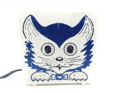 Light Adorable VINTAGE little CAT night LAMP, use for you home decor, nursery.