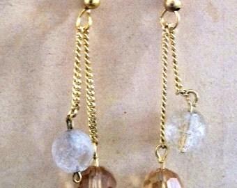 Brass bead earrings