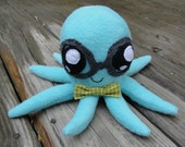 Blue Bowtie Glasses Octopus