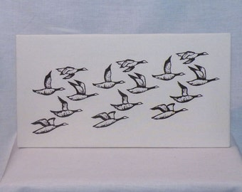 Geese in Flight Canvas