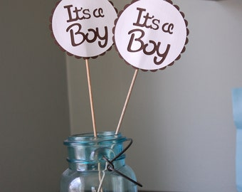 Its A Boy Centerpieces, 8 PCS, Boy Baby Shower