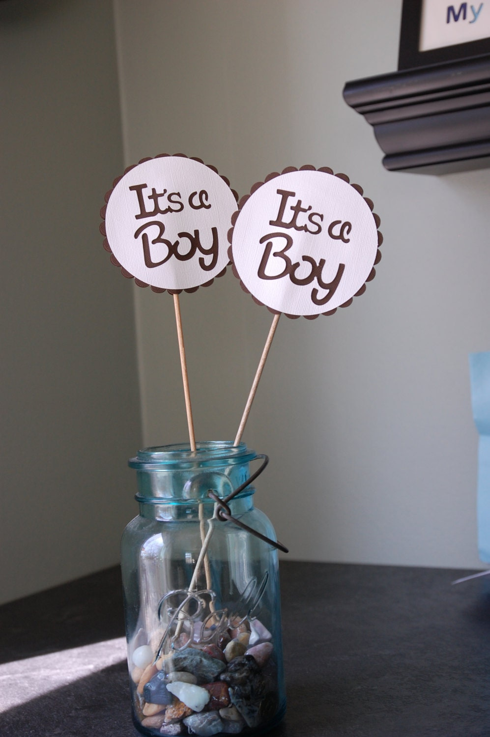 its a boy centerpieces 8 pcs boy baby shower