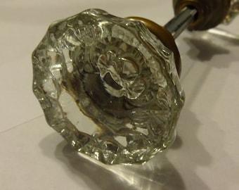 Pair of Antique Glass Door Knobs