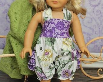 "Natalie's Ruffle Bottom 18"" Doll Romper PDF Pattern"