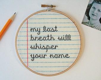 Love Letter No.1 cross stitch