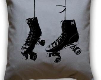Hanging Roller Skates 14 x 14 Throw Pillow (CASE ONLY)