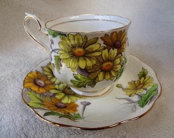 Vintage Royal Albert Daisy Teacup and Saucer