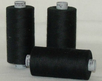GUTERMANN Mara 100 Polyester Thread ONE (1) Spool 1,094yd BLACK