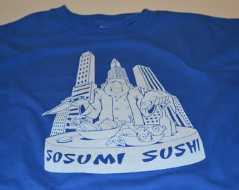 Sushi Shirt Funny Sosumi Sushi Tshirt for Men or Women Chicago's Best Sushi So Sue Me Funny Shirts for Men or Women