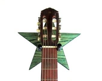 STAR GUITAR HANGER / Wood Burned Edges