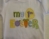 Personalized Girls or Boys My First Easter Outfit, Easter ones piece, or Easter Shirt, My 1st Easter