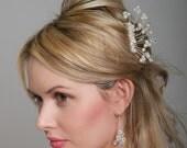 Swarovski Hair Accessory - Bridal Hair Comb Accessories - Tiara alternative - Pearl and Crystal Wedding Hair Comb