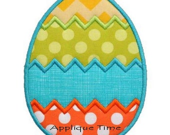 Instant Download Chevron Easter Egg Machine Embroidery Applique Design 4x4, 5x7 and 6x10