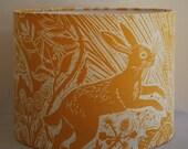 Harvest Hare Drum Lampshade