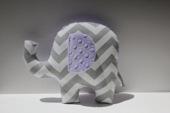 Items Similar To Modern Lilac Gray Nursery Elephant Pillow