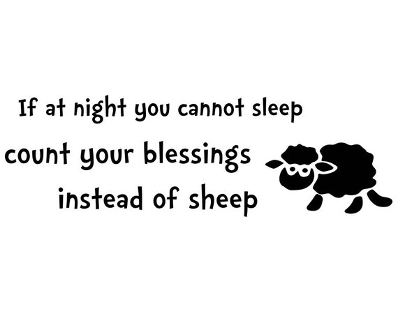 If At Night You Cannot Sleep Count Your By Decals4mywalls