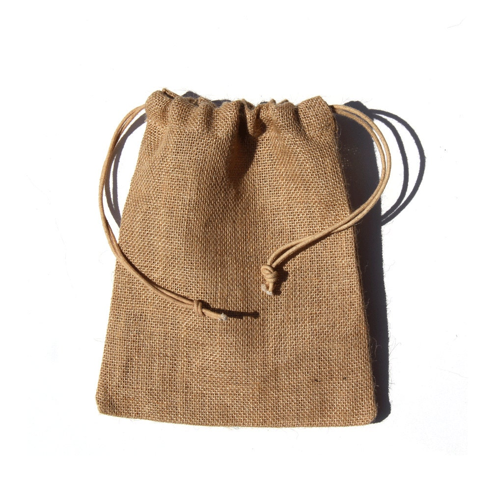 Wedding Gift Pouches: 10 X 14 Burlap Jute Bags Pouches For Wedding Gift