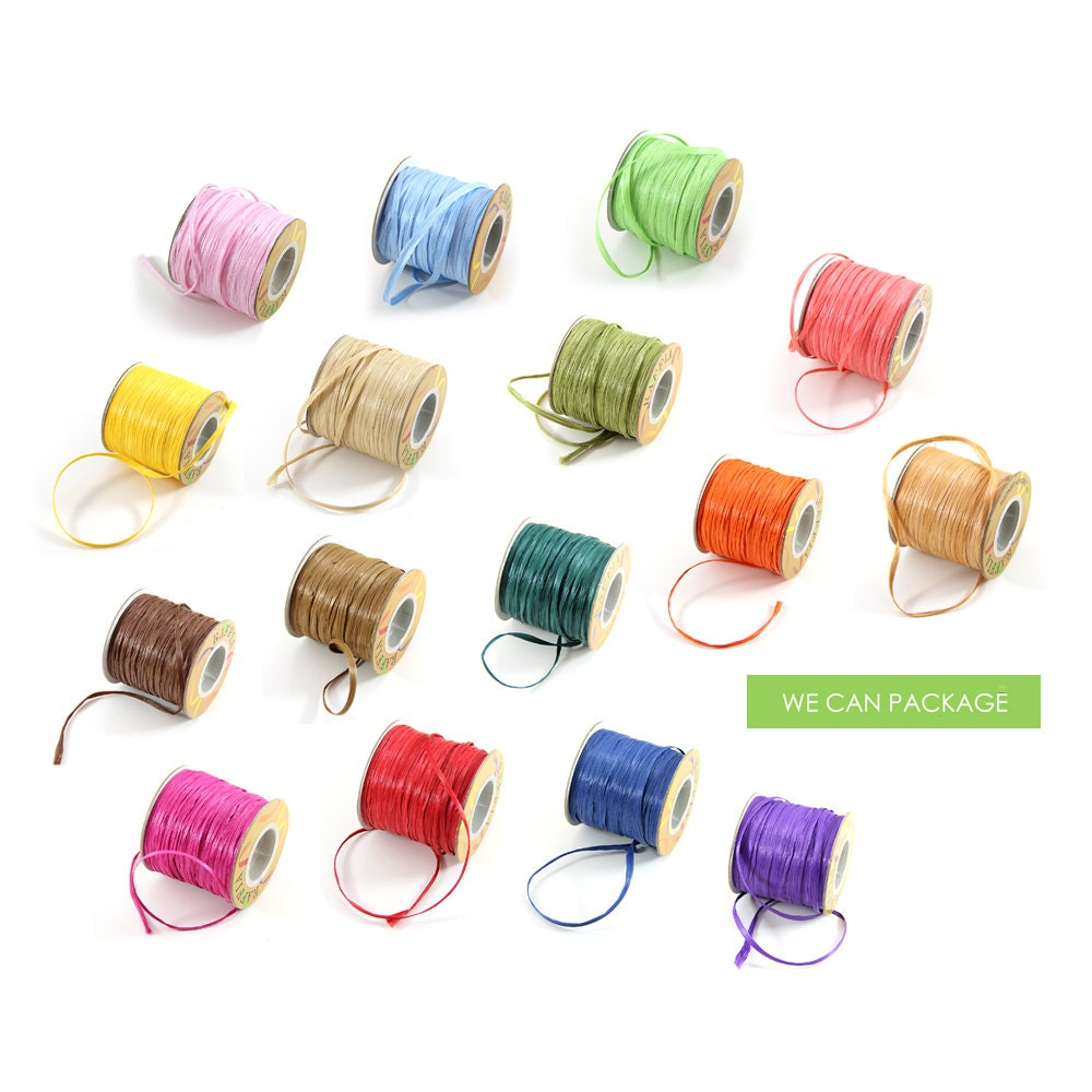 Decorating With Raffia Color Raffia String Ribbon 100 Yards Craft Projects Gift Packaging