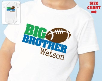 Football Big Brother Shirt - Personalized Sibling Shirt