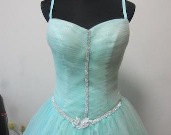 Tiffany Blue Fairy-tale Style Tulle Wedding Dress