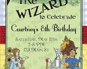 Custom Printable Invitation - Print Your Own Wizard of Oz Party Invitations - Birthday or Theme Party